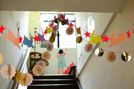 Decorated School Corridor